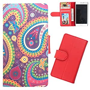 DooDa - For Samsung Galaxy On7 PU Leather Designer Fashionable Fancy Wallet Flip Case Cover Pouch With Card, ID & Cash Slots And Smooth Inner Velvet With Strong Magnetic Lock