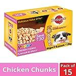 Pedigree Puppy Wet Dog Food Food, Chicken Chunks in Gravy, 15 Pouches (15 x 80g)