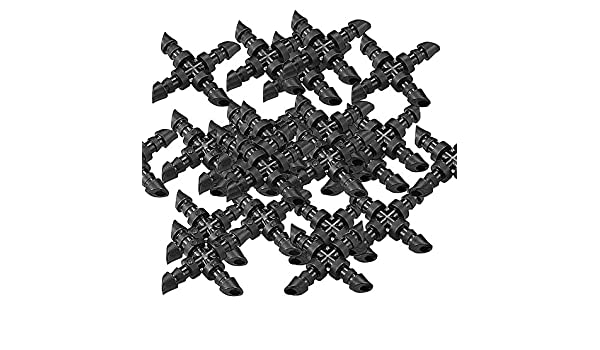 SIENOC 25x 4//7 Cross X Connettore Tubo Per Irrigazione Sistema Spruzzatore A Goccia,4mm Cross X Joiner Tipo