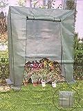 Lissek Tomatengewächshaus mit Schrägdach Tomatenhaus zur Tomatenzucht als Foliengewächshaus mit Metall Großes Tomatenzelt und Anzuchthaus 230/195 x 180 x 60 cm