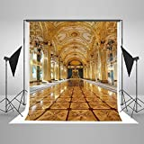 Kate 5x7ft Gold Resplendent Palace Stage Corridor Wedding Ceremony Birthday Party Studio Son Daughter Children Girl Princess Style Backdrop Photography Background YY00152