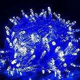 VINGO LED Lichterkette Blau Weihnachtsbeleuchtung 8 Funktiontyp Memory für Weihnachten Hochzeit Festlich Aussen Fassaden (30M 300 Leds)