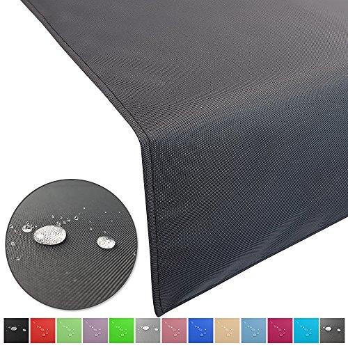 SunDeluxe Outdoor Tischläufer Lounge mit Lotuseffekt - Wasserabweisende & abwaschbare Tischdecken -...