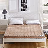 Thicker washed cotton can be folded 0.9 / 1.0 m mattress double 1.5 / 1.8 / 2.0 m mattress , camel , 100*200cm=2.6kg