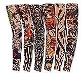 6 Pcs Manguitos de Nylon Elástico Tatuaje Mangas Brazo UV protección solar del verano 40CM