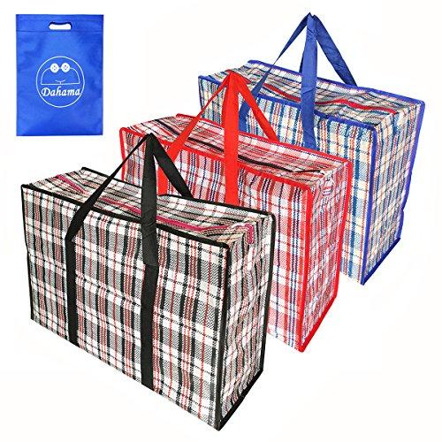 Groß Einkaufstaschen, Aufbewahrungstasche, Tragetasche Mit Handgriff für Bettzeug Matratzenauflagen Decken Bettdecken Kissen - 3 stück