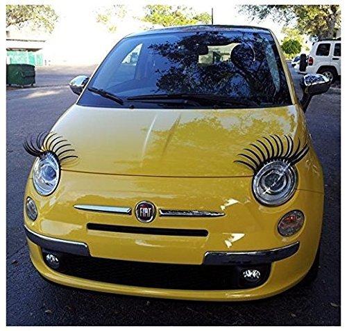 cofco Paar Curly Sexy Wimpern für Autos passend für alle Marken
