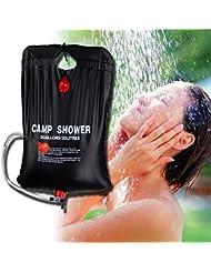 Bolsa de ducha para senderismo y camping, de PVC con calefacción solar, ligera y