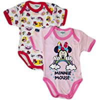 Bi-Pack Body Bimba Cotone Disney Baby Minnie Rosa/Fucsia o Giallo/Fucsia