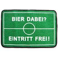 """ErfurthFUN Fußmatte """"Bier dabei? Eintritt frei"""", 40 x 60 cm"""