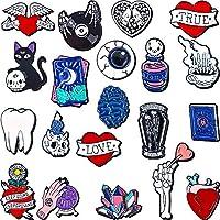 WILLBOND 20 Pieces Halloween Cute Enamel Lapel Pin Set Punk Cartoon Brooch Pin Badges Brooch Pins for Clothing Bags Jackets Accessory DIY Crafts