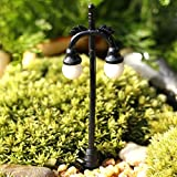 #8: Fancyku Micro Landscape Miniature Fairy Garden Streetlight Style DIY Desk Home Decor Ornament 5 Pcs