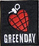 2.75 X 3GREEN DAY HEART GRENADE Heavy Metal Rock Punk Music Band Logo Polo T shirt Patch Sew Iron on Embroidered