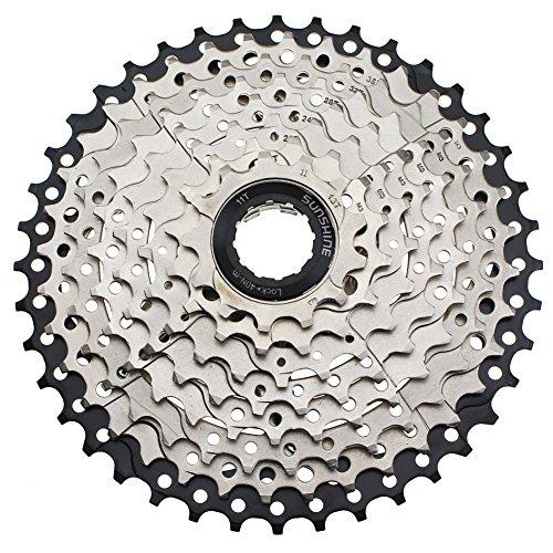 FOMTOR 9Speed Kassette cysky 11–40T 9S breit Verhältnis lässt es Kassetten Ritzel mit verlängertem b-Screw für Fahrrad MTB Mountain Bike (Light Gewicht, Stahl)