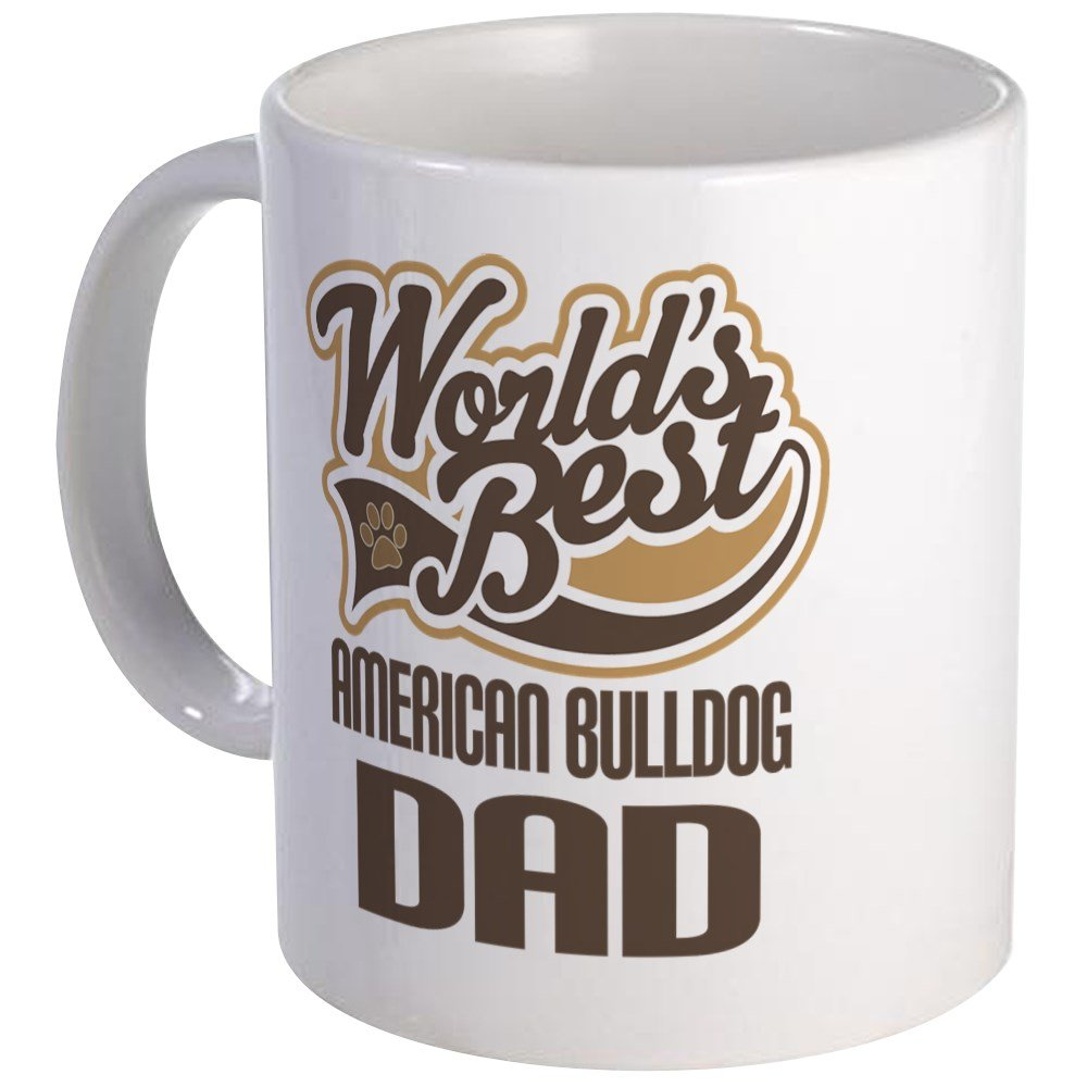 CafePress – American Bulldog Dad Mug – Unique Coffee Mug, Coffee Cup, Tea Cup
