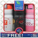 Ekoz Gt White,Gt Rouge & Just Sport Femme Deodorant- 200 Ml Each( Set Of 3)