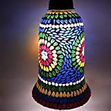 Ethnic Handmade Mosaic Designer Glass Hanging Decorated Lamp Ceiling Lightshade Pendant By India Meets India Use As Electric Hanging Night Lamp Home Decoration Lamp With Luxury Feel