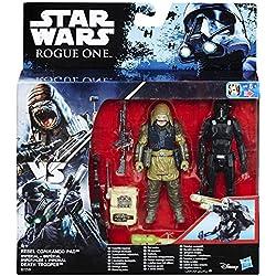 Star Wars Rogue One Death Trooper impérial et Rebel Commando Pao Deluxe Figure avec Storm Trooper Armour Mettant (2-figure)