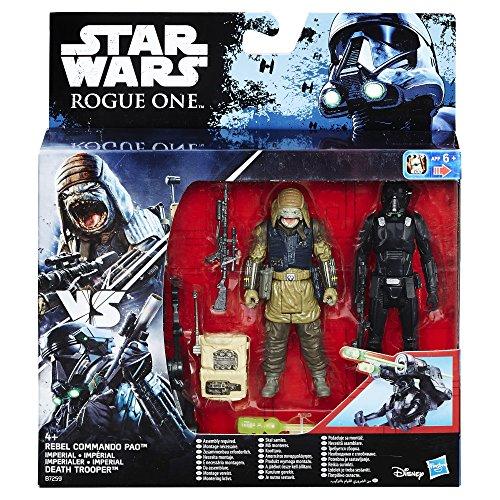 Star Wars Rogue One - Figures Death Trooper Imperial and Commando Rebel Pao (Hasbro B7259EL20)
