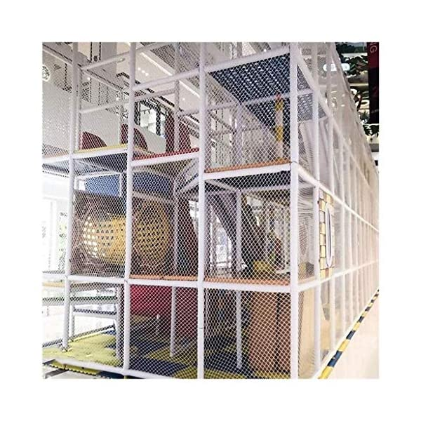 Balcony protection net, stair shatter-resistant net, terrace safety net, nursery fence net, playground park stadium fence net hammock swing (Size : 10 * 10M(33 * 33ft))  ◆ Safety net wire diameter 6MM, mesh spacing 10CM.Color: white rope net.Our protective mesh can be customized according to your needs. ◆Protective net material: Made of nylon braided rope, hand-woven, tightened.Exquisite workmanship, solid and stable, can withstand 300kg weight impact. ◆Features of decorative net: soft material, light mesh, multi-layer warp and weft, fine wiring, fine workmanship; clear lines, non-slip durable, anti-wear. 6