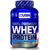 USN 100 Percent Whey Protein Strawberry 2.28 kg: Muscle Building and Recovery Whey Isolate Protein Powder