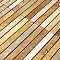 Mosaikfliesen aus Travertin Braun Beige Rot 15x151x10mm