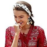 Terryfy Damen Stirnband Elegant Sommer Turban Elastisch Blumen Streifen Knoten