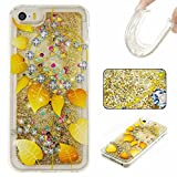 KSHOP Coque de protection en silicone TPU mince Pour iPhone SE/iPhone 5/iPhone 5S Avec motif imprimé papillons multicolores iPhone SE 5 5S lu8