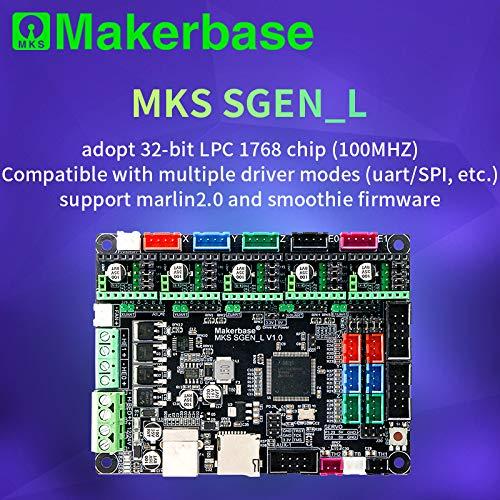 3D-Druckerplatine MKS SGen_L 32-Bit Controller kompatibel mit Marlin2.0 und Smoothie Firmware.Unterstützt mehrere Arten von Laufwerken, MKS SGEN-L, 1 32-bit-lcd