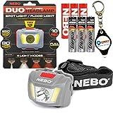 Best Nebo Key Chain Flashlights - Nebo 6444 Duo LED Headlamp 250 Lumen Spot Review