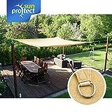 sunprotect SPT83216 'professional' Sonnensegel, 3,5 x 4,5 m, Rechteck, beige (1 Stück) - 2