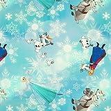 Stoffe Werning Baumwollstoff Lizenzstoff Disney's Frozen Eiskristalle - Preis gilt für 0,5 Meter