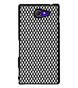 Fiobs Designer Back Case Cover for Sony Xperia M2 Dual :: Sony Xperia M2 Dual D2302 (jaipur rajasthan african america cross pattern)