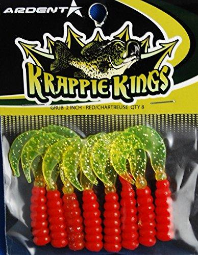 Krappie Kings Crappie/Panfish Grub Jig, Rot/Chartreuse, 5,1 cm -
