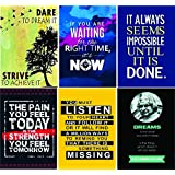 PRINTELLIGENT Motivational Posters For Office And Study Room - Set Of 6-12X18 In - Inspirational Wall Quotes - (Design-0011)