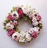 StarLifey Künstliche Blumen, Altmodische Pfingstrosen kunstblumen, aus Seide für Hochzeit Heim-Dekoration, 1 Stück hellrosa - 3
