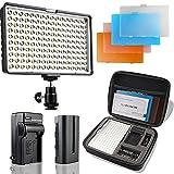 SAMTIAN Torche Vidéo LED Vidéo Lampe 160 LED...