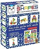 Play Panda Fun Magnetic Shapes (Senior) : Type 2 with 58 Magnetic Shapes, 200 Pattern Book, Magnetic Board and Display…