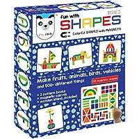 Play Panda Fun Magnetic Shapes (Senior) : Type 2 with 58 Magnetic Shapes, 200 Pattern Book, Magnetic Board and Display Stand