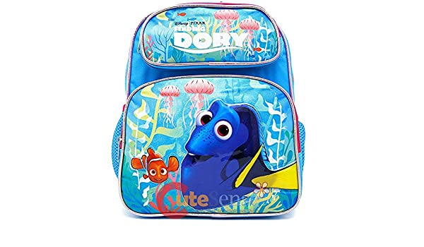 73d63593646 Finding Dory School Backpack Medium 12 Girls Nemo Book Bag - Pink Coral   Amazon.co.uk  Clothing