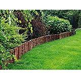 Steckzaun Weide 20 cm hoch Breite 120 Weidenzaun Beetrumrandung von Gartenpirat