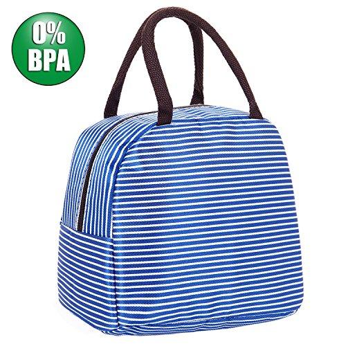 Mucjun Lunch Taschen, Neopren Wasserdicht Isolierte Picknicktasche Kühltasche Lunchtasche Mittagessen Tasche für Kinder,Mädchen,Frauen