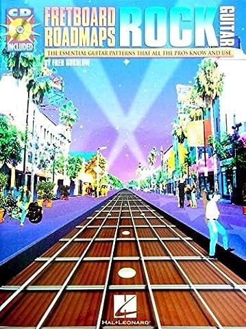 FRETBOARD ROADMAPS ROCK GUITAR TAB BOOK/CD