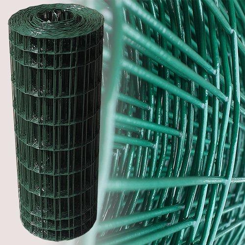 25 Meter Maschendrahtzaun Gitterzaun Drahtzaun grün Höhe 100 cm Maschenweite 5 x 10 cm Gartenzaun -