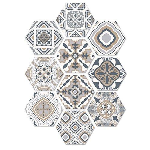 LILICAT Auto-adhésif Tile Art Floor Sticker Sticker Bricolage Cuisine Salle De Bains Décor Vinyle Décoration de La Maison étage carrelage Autocollant