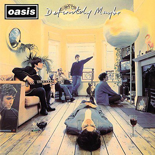 Oasis - Definitely Maybe (1994) Poster/Print with Black Card Frame and Mount (21cm x 21cm)