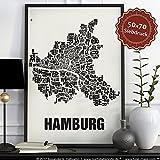 Hamburg Buchstabenort Schwarz auf Naturweiß