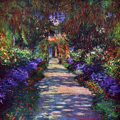 Das Museum Outlet - Garden At Giverny by Monet - Leinwand (61 x 45,7 cm) -