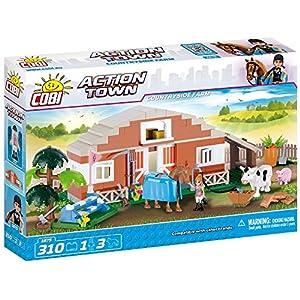COBI- Action Town-Countryside Farm (310 Pcs) Juguete, Multicolor (COB01875)