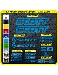 Scott 0112 - Juego de pegatinas para bicicleta, 18 unidades, varios colores, Blu Leggero cod. 053